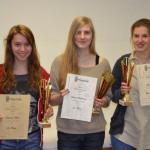 Die Siegerinnen der u16.
