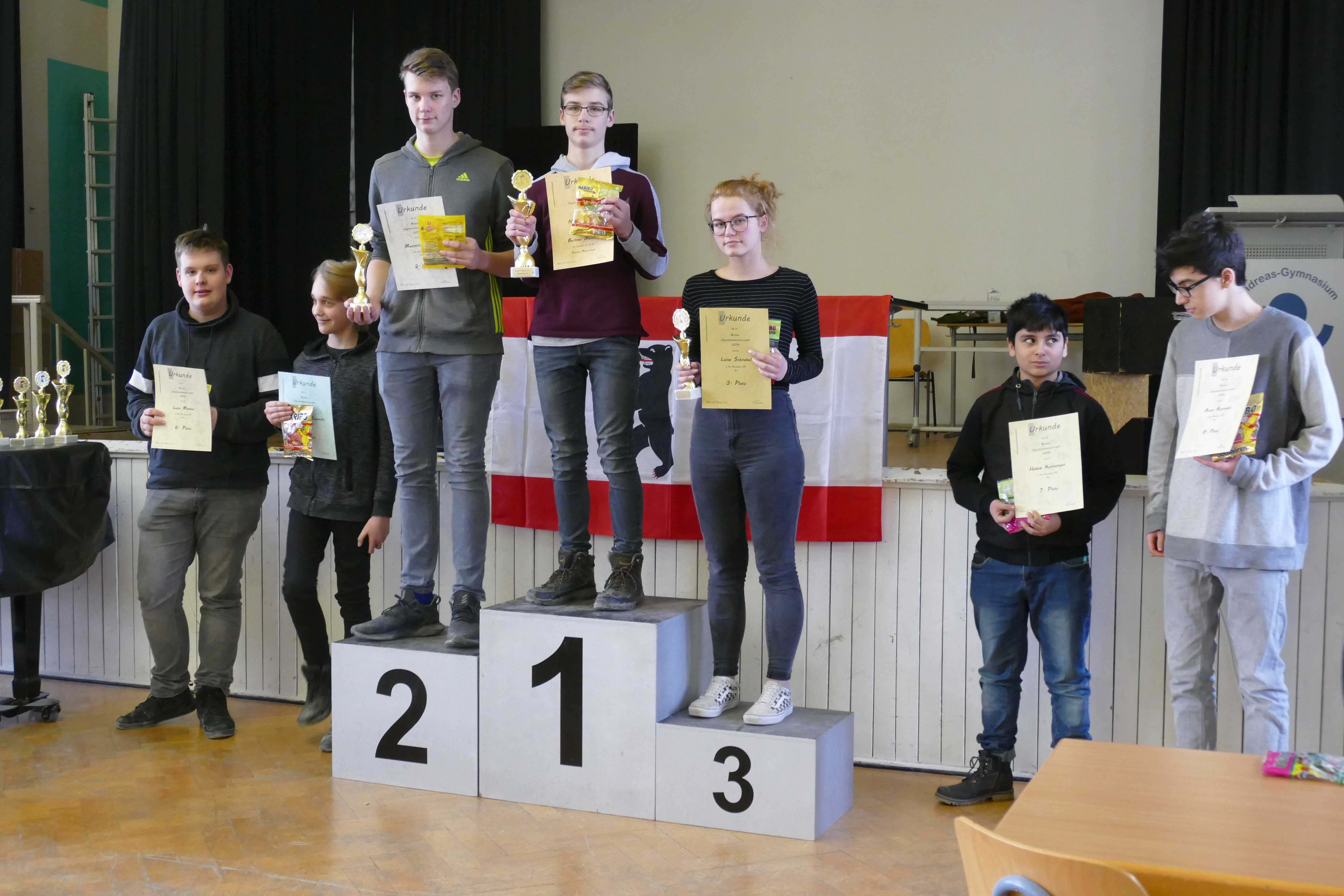 Niclas Hommel - Berliner Meister U16 (Quelle: Schachjugend in Berlin)